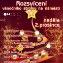 Rozsvícení vánočního stromu, Hlučín (CZ)